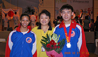 Katherine, Sifu and Colvin at the Jr World championship in Bali, Indonesia.